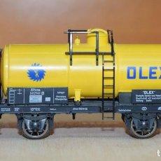 Trenes Escala: FLEISCHMANN H0 VAGÓN CISTERNA DE OLEX, AFECTO A LA KPEV, REFERENCIA 5845 K.. Lote 194749356