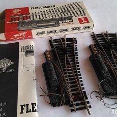 Comboios Escala: FLEISCHMANN H0 REF 1724, PAREJA DE DESVÍOS ELÉCTRICOS. NUEVOS, EN CAJA. Lote 194967125