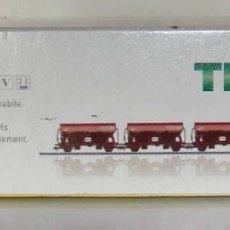 Trenes Escala: SET DE 3 VAGONES DE TOLVA DE TRIX ESCALA HO REF.: 24523. Lote 194994792