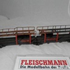 Trenes Escala: VAGÓN PORTACOCHES ESCALA HO DE FLEISCHMANN . Lote 198209436