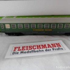 Trenes Escala: VAGÓN PASAJEROS CHALTER ESCALA HO DE FLEISCHMANN . Lote 198788240