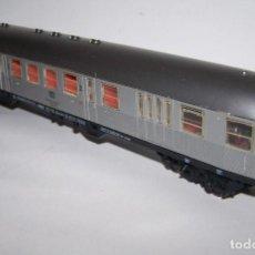 Trenes Escala: FLEISCHMANN. VAGÓN VIAJEROS-FURGÓN H0 1/87. CON LUZ DE COLA.. Lote 238303850
