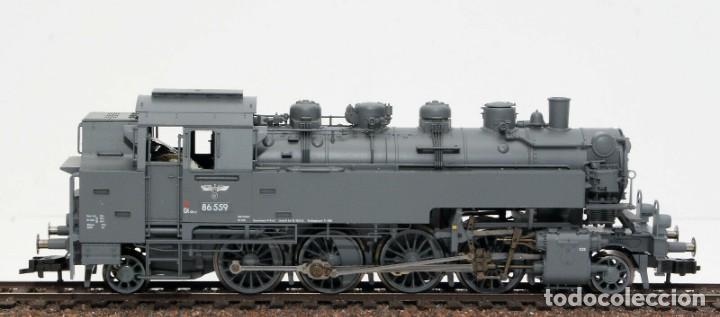 Trenes Escala: Fleischmann H0 - 85 4912 - Locomotora ténder - BR 86, Gt 46 in de kleur ´eisengrau´ - DR (DRB) - Foto 2 - 204627373