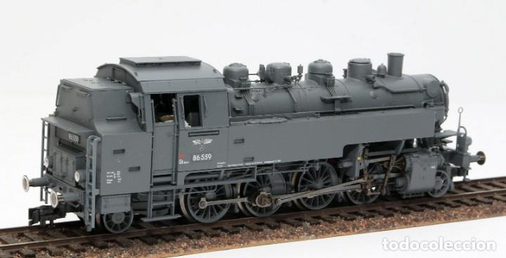 Trenes Escala: Fleischmann H0 - 85 4912 - Locomotora ténder - BR 86, Gt 46 in de kleur ´eisengrau´ - DR (DRB) - Foto 3 - 204627373