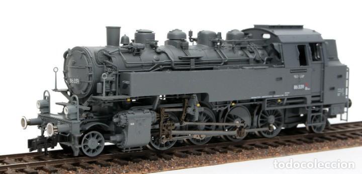 Trenes Escala: Fleischmann H0 - 85 4912 - Locomotora ténder - BR 86, Gt 46 in de kleur ´eisengrau´ - DR (DRB) - Foto 6 - 204627373