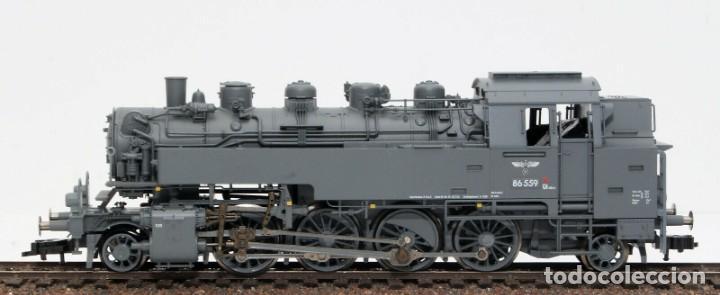 Trenes Escala: Fleischmann H0 - 85 4912 - Locomotora ténder - BR 86, Gt 46 in de kleur ´eisengrau´ - DR (DRB) - Foto 7 - 204627373