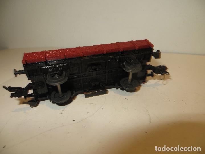 Trenes Escala: VAGON FLEISCHMANN CARGA ABIERTO BORDE BAJO ,BUEN ESTADO,SIN FALTAS,REGALADO - Foto 2 - 206769201