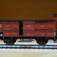 Trenes Escala: FLEISCHMANN H0 VAGÓN CERRADO CON GARITA, DE LA DB, REFERENCIA 5356.. Lote 207762057