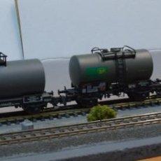 Trenes Escala: FLEISCHMANN H0 PEQUEÑA COMPOSICIÓN DE 3 VAGONES CISTERNA CORTA, REFERENCIAS 5404, 5412 Y 5414.. Lote 207762832