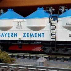 Trenes Escala: FLEISCHMANN H0 VAGÓN SILO DE BOGIES, DE LA BAYERN ZEMENT DB, REFERENCIA 5480.. Lote 207766701