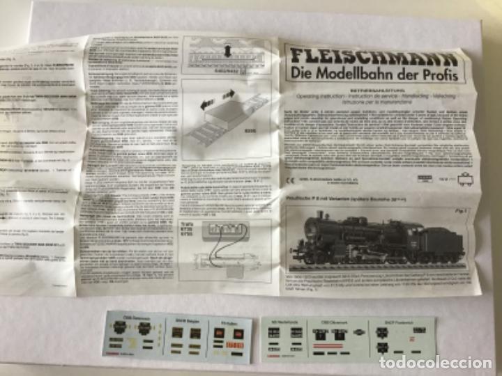 Trenes Escala: Locomotora H0 Fleischmann vapor con tender. ref 4167. Única. De vitrina - Foto 13 - 210130075