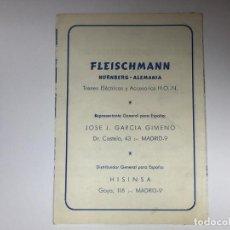 Trenes Escala: CATALOGO FLEISCHMANN. Lote 210278580