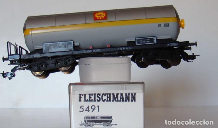 VAGON CISTERNA DE SHELL DE LA DB REF: 5491 (Juguetes - Trenes Escala H0 - Fleischmann H0)