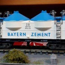 Trenes Escala: FLEISCHMANN H0 VAGÓN SILO DE BOGIES, DE LA BAYERN ZEMENT, REFERENCIA 5480.. Lote 214435517