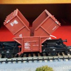 Trenes Escala: FLEISCHMANN H0 VAGÓN DE DESCARGA CENTRAL, DE LA DB, REFERENCIA 5502.. Lote 214436666
