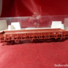 Trenes Escala: VAGÓN BORDE BAJO ESCALA HO DE FLEISCHMANN. Lote 216000026