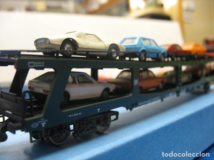 Trenes Escala: vagon con carga de coches fleischmann made in germany - Foto 4 - 220431307
