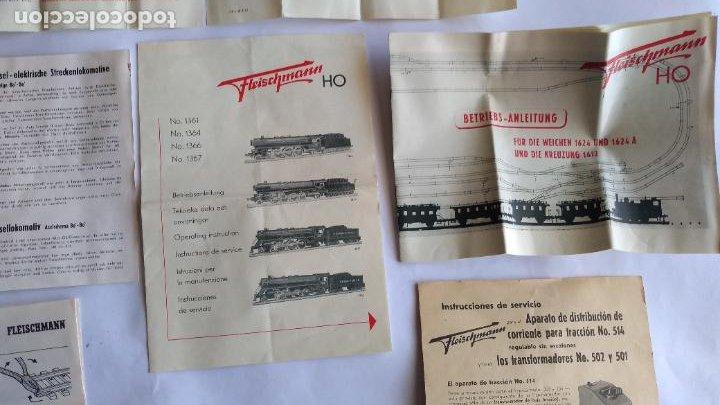 Trenes Escala: FLEISCHMANN H0 ,LOTE DE FOLLETOS, INSTRUCCIONES - Foto 3 - 221463973