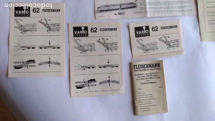 Trenes Escala: FLEISCHMANN H0 ,LOTE DE FOLLETOS, INSTRUCCIONES - Foto 4 - 221463973