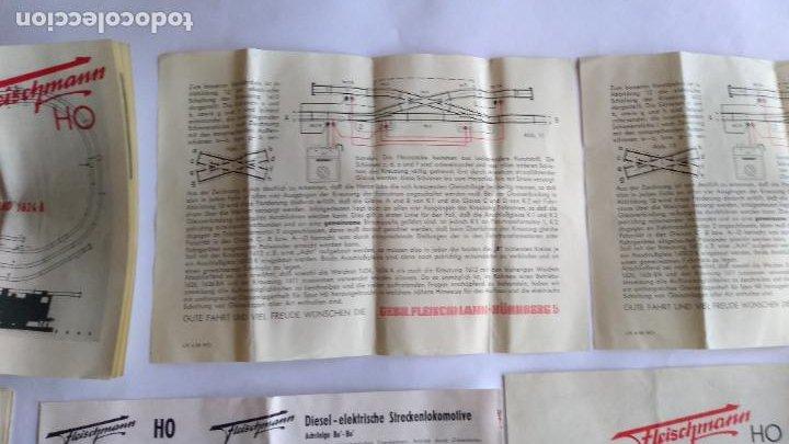 Trenes Escala: FLEISCHMANN H0 ,LOTE DE FOLLETOS, INSTRUCCIONES - Foto 6 - 221463973