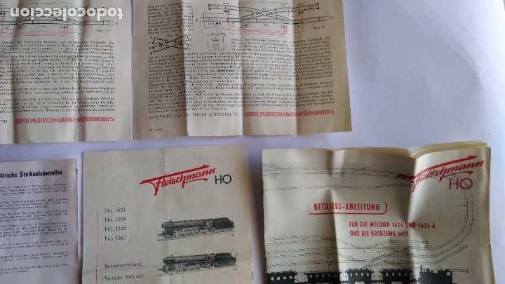 Trenes Escala: FLEISCHMANN H0 ,LOTE DE FOLLETOS, INSTRUCCIONES - Foto 7 - 221463973