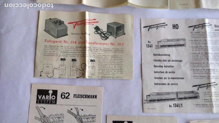 Trenes Escala: FLEISCHMANN H0 ,LOTE DE FOLLETOS, INSTRUCCIONES - Foto 8 - 221463973