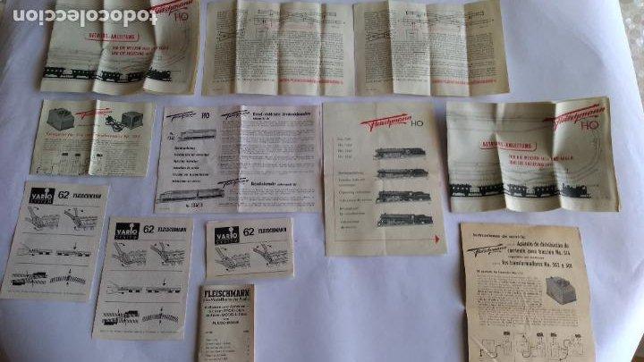 FLEISCHMANN H0 ,LOTE DE FOLLETOS, INSTRUCCIONES (Juguetes - Trenes Escala H0 - Fleischmann H0)