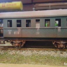 Trenes Escala: VAGON COCHE PASAJEROS FLEISCHMANN USADO H0 HO ENVEJECIDO Y BARNIZADO. Lote 222477116
