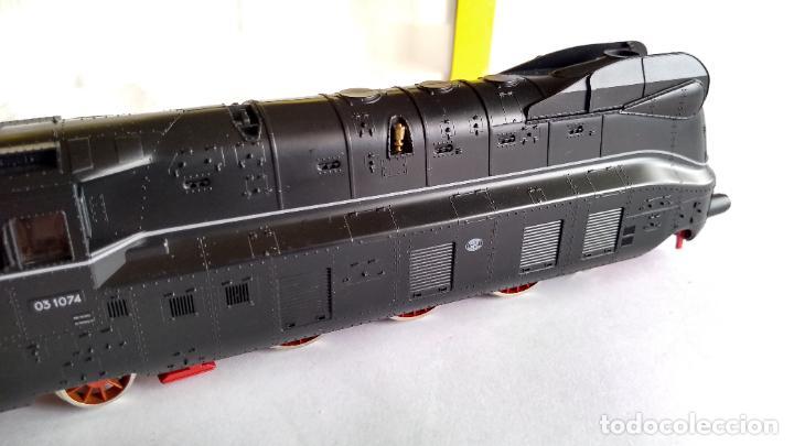 Trenes Escala: FLEISCHMANN H0, LOCOMOTORA VAPOR CARENADA ALEMANA, MUY BUEN ESTADO, FUNCIONANDO, EN CAJA - Foto 19 - 223760678