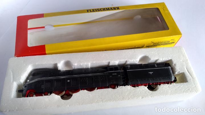 Trenes Escala: FLEISCHMANN H0, LOCOMOTORA VAPOR CARENADA ALEMANA, MUY BUEN ESTADO, FUNCIONANDO, EN CAJA - Foto 28 - 223760678