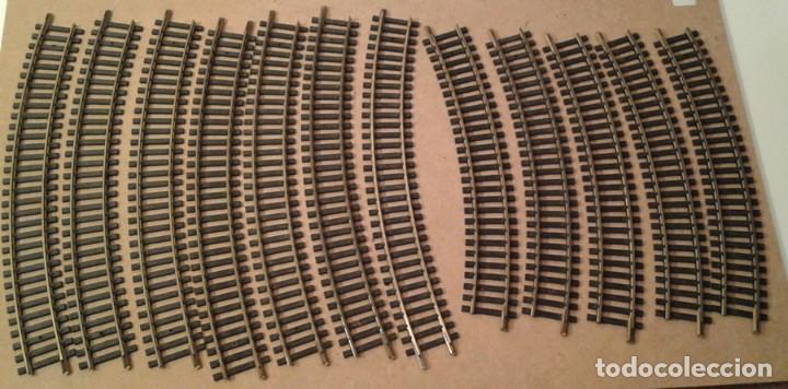 FLEISCHMANN H0, 5 VÍAS CURVAS 19 CM, 7 CURVAS 22 CM, ENVIO 3,80 EUROS LOT 54 (Juguetes - Trenes Escala H0 - Fleischmann H0)