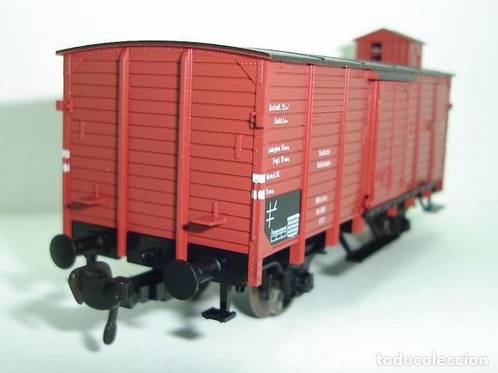Trenes Escala: VAGON CERRADO CON GARITA FLEISCHMANN ESCALA HO - Foto 5 - 228163350