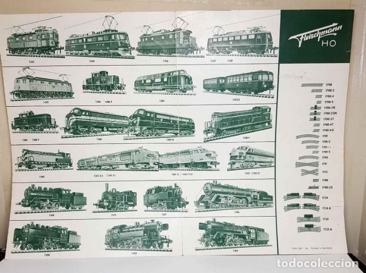 FOLLETO FLEISCHMANN DEL AÑO 1963 (Juguetes - Trenes Escala H0 - Fleischmann H0)