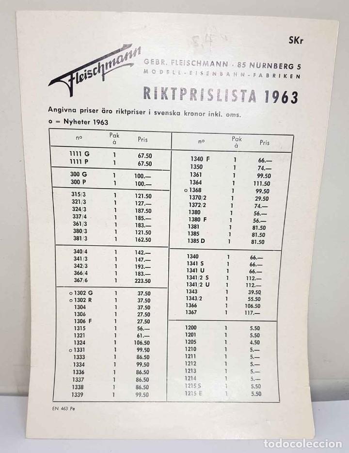 Trenes Escala: Folleto FLEISCHMANN del año 1963 - Foto 3 - 234040195