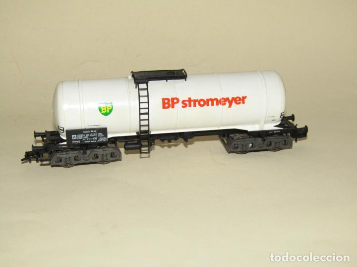 Trenes Escala: Antigua Vagón Cisterna 4 Ejes BP Stromeyer en Escala *H0* de FLEISCHMANN - Foto 4 - 234552945
