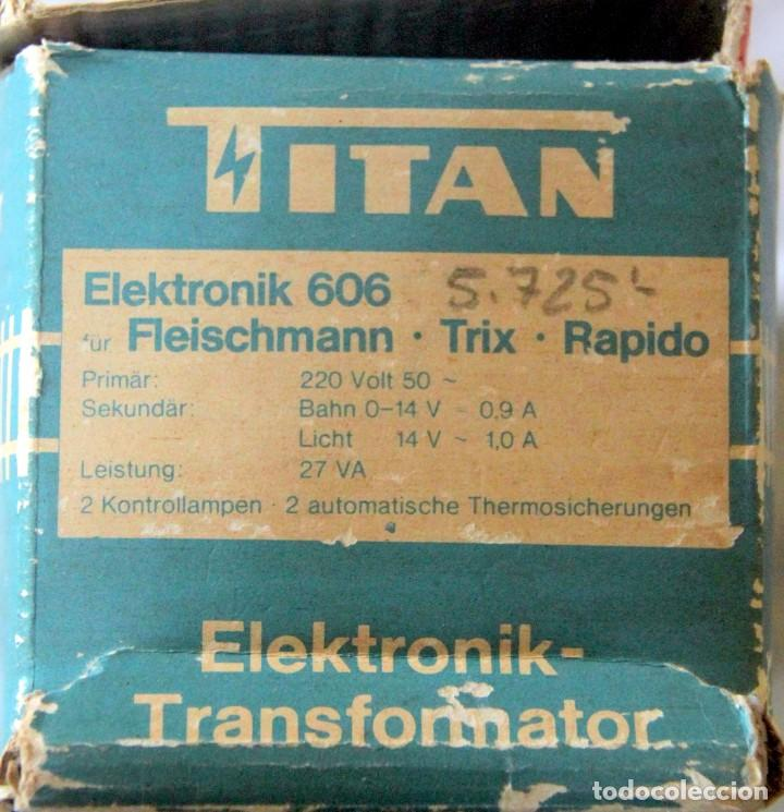 Trenes Escala: FLEISCHMANN TRANSFORMADOR TITAN TRIX 27 VA - CORRIENTE CONTINUA - Foto 2 - 235002520