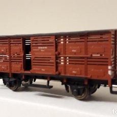 Trenes Escala: FLEISCHMANN H0 VAGÓN SEMI CERRADO PARA TRANSPORTE DE PEQUEÑO GANADO, DE LA DB, REFERENCIA 5354.. Lote 236309515