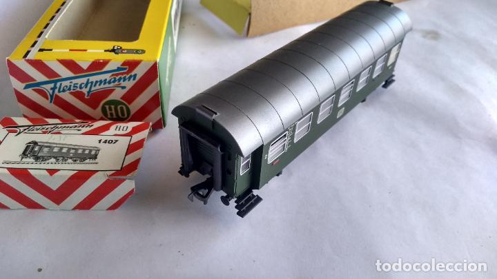 Trenes Escala: FLEISCHMANN H0, VAGÓN COCHE DE PASAJEROS 3 EJES, EN CAJA ORIGINAL - Foto 3 - 236981800