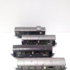 Trenes Escala: JIFFY VENDE PRECIOSO CONJUNTO DE 4 VAGONES FLEISCHMANN H0. VER FOTOS Y DESCRIPCIÓN. ADMITO OFERTAS.. Lote 238028315
