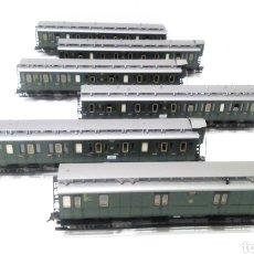 Trenes Escala: JIFFY VENDE 6 VAGONES FLEISCHMANN H0. IMPRESIONANTE LOTE DE 6 VAGONES DE ÉPOCA.. Lote 241117610