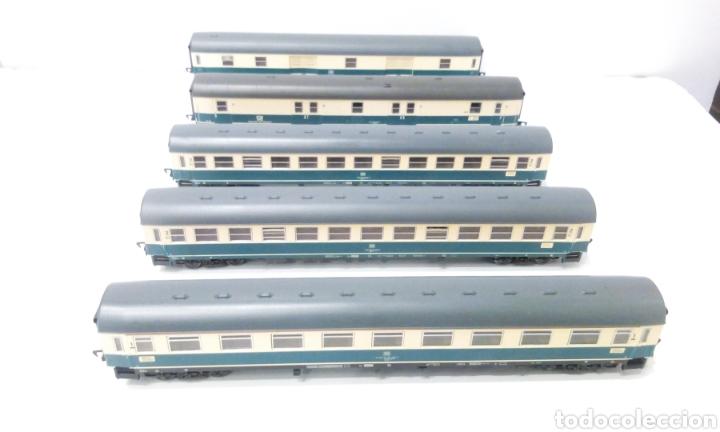 JIFFY VENDE 5 VAGONES FLEISCHMANN H0. PASAJEROS, CORREOS Y FURGÓN DE COLA. (Juguetes - Trenes Escala H0 - Fleischmann H0)