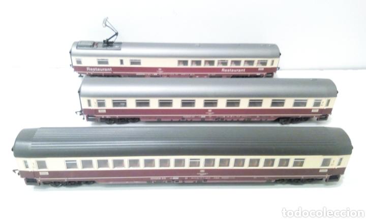 Trenes Escala: JIFFY VENDE 3 VAGONES FLEISCMANN H0. PASAJEROS Y RESTAURANTE. - Foto 2 - 241275730
