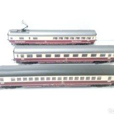 Trenes Escala: JIFFY VENDE 3 VAGONES FLEISCMANN H0. PASAJEROS Y RESTAURANTE.. Lote 241275730