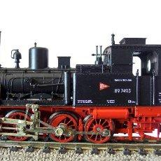 Trenes Escala: MÁQUINA FLEISCHMANN. MODELO BAUREIHE 89. VAPOR. CAJA ORIGINAL. Lote 243968500