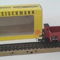 Trenes Escala: FLEISCHMANN H0, VAGÓN DE TRANSPORTE 1485, CON CAJA ORIGINAL, ENVIO 4,50 EUROS, LOT X10. Lote 244659105