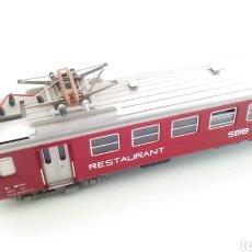 Trenes Escala: JIFFY VENDE VAGÓN FLEISCHMANN H0 SBB CFF RESTAURANT. VAGÓN SUIZO RESTAURANTE.. Lote 244687245
