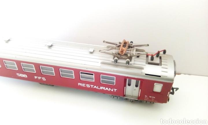 Trenes Escala: JIFFY VENDE VAGÓN FLEISCHMANN H0 SBB CFF RESTAURANT. VAGÓN SUIZO RESTAURANTE. - Foto 6 - 244687245