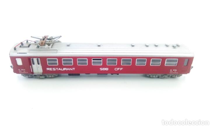 Trenes Escala: JIFFY VENDE VAGÓN FLEISCHMANN H0 SBB CFF RESTAURANT. VAGÓN SUIZO RESTAURANTE. - Foto 2 - 244687245