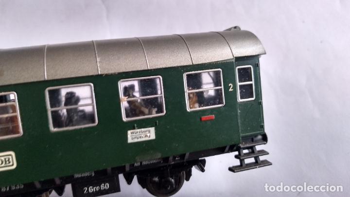 Trenes Escala: FLEISCHMANN H0, VAGÓN COCHE PASAJEROS , 3 EJES. CON LUZ Y PERSONAJES. - Foto 6 - 244693225