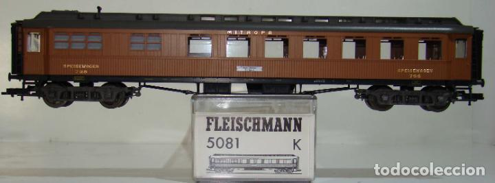 FLEISCHMANN COCHE COMEDOR MITROPA REF: 5081 ESCALA H0 (Juguetes - Trenes Escala H0 - Fleischmann H0)
